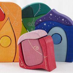Kids Blocks: Funky Rainbow Block Set in First Birthday Gifts 100+