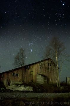 Old house and stars norway