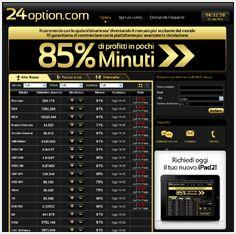 24Option è una delle migliori piattaforme in assoluto per fare trading con le opzioni binarie, da provare #opzionibinarie