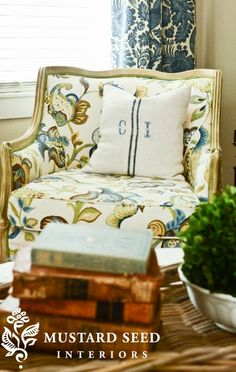 New favorite fabric for slipcovers | MISS MUSTARD SEED | www.missmustardseed.com