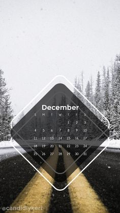 Street winter snow December calendar 2016 wallpaper you can download for free on the blog! For any device; mobile, desktop, iphone, android!
