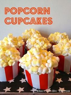 Movie Themed Birthday Party: Popcorn Cupcakes (made with marshmallows!) Movie Themed Birthday Party: Popcorn Cupcakes (made with marshmallows!) The post Movie Themed Birthday Party: Popcorn Cupcakes (made with marshmallows!) appeared first on Birthday. Carnival Birthday Parties, Circus Birthday, Birthday Fun, Birthday Party Themes, Circus Party, Birthday Ideas, Birthday Popcorn, Paris Birthday, Popcorn Cupcakes