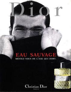 Eau Sauvage by Christian Dior with Zinedine Zidane (1999).