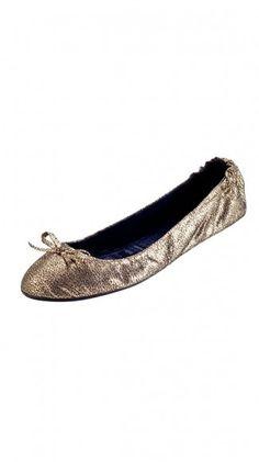 Gold Ballet Flats // LuxeYard