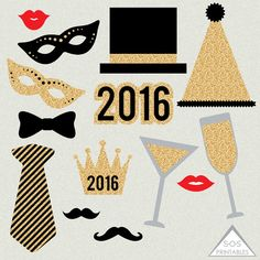 new years 2016 photobooth props by sos printables on etsy kids new years eve new