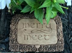 Merry Meet! Our Merry Meet Plaques will greet your family, friends and fellow cunning folk with this subtle pagan salutation. This magical plaque is adorned with sacred Pagan symbolism throughout its