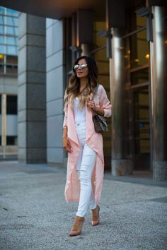 Trending: Summer Trench. - Mia Mia Mine. Missguided Pink Trench Coat, Topshop White Jeans, Christian Louboutin Heels, Gucci 'Dionysus' Bag