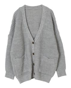 AnnaKastle Women's Chunky Waffle Knit Boyfriend Cardigan Sweater ...