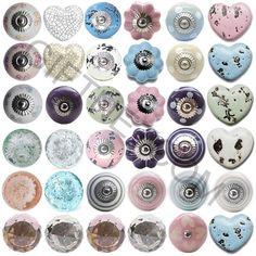 Round coloured glass doorknobs, Glass & ceramic knobs, Door knobs ...