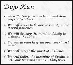 Enshin karate dojo kun