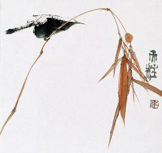 Фактура цвета. Настроение. Идеи. Qin Tianzhu Sumi E Painting, Japan Painting, Chinese Painting, Ink In Water, Tinta China, China Art, Traditional Paintings, Japanese Prints, Japan Art