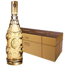 Louis Roederer Cristal Gold Caged Jeroboam, Limited Edition, 2002 ($20,715) ❤ liked on Polyvore featuring home and home decor