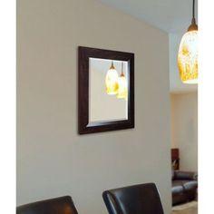 Rayne Dark Walnut Wall Mirror, Brown