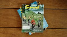 Vintage Sunset Magazine Set of 4 / 1974 & by MicroscopeTelescope
