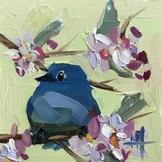 Bluebird no. 106 Original Oil Painting by Angela Moulton pre-order