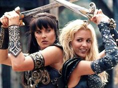Xena: Warrior Princess Stars Lucy Lawless And Renee O'Connor New Pic