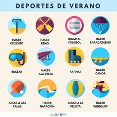 NUEVO CARTEL DE @abcdeEle ️ Cartel: Deportes de verano Descarga el PDF: http://eleinternacional.com/carteles-de-vocabulario/ ¡COMPARTE!