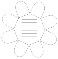 Kruschkiste: Faltblume Blanco-Vorlage für das Lapbook