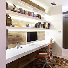 study table with cove lighting (for small room)