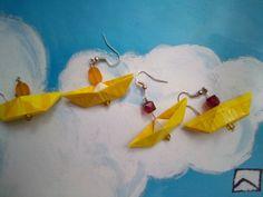 boucles d'oreille avec sachets de thé recyclés Sachets, Drop Earrings, Jewelry, Boucle D'oreille, Locs, Jewerly, Jewlery, Schmuck, Drop Earring