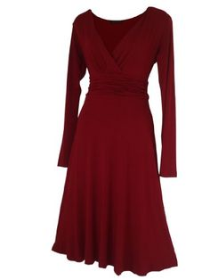 Look For The Stars Women's Long Sleeved Calf Length Dress Burgundy 10 look for the stars,http://www.amazon.com/dp/B009LLQJ0Y/ref=cm_sw_r_pi_dp_x1n.sb1JS2FNXN90