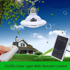 22LED Solar Light lamp Emergency Light Outdoor Camping Led Bulbs Hiking LED Lamp by remote control Camp Travel lighting #Affiliate