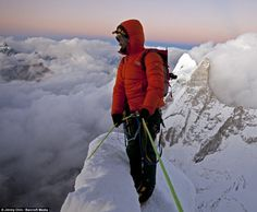 Meru Ascent - TOP   Most difficult mountain ever climbed - 21000 fr - 6000m