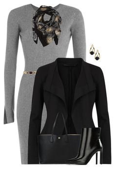 """""""Donna Karan Jacket"""" by houston555-396 ❤ liked on Polyvore featuring Alexander Wang, Alessandra Rich, Sophie Darling, Donna Karan, Tory Burch and STELLA McCARTNEY"""