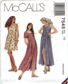 McCall's 7545 Misses' Dress in Two Lengths