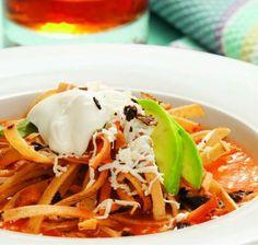 Receta de la Sopa de tortilla o Sopa Azteca ¡Una sabrosa tradición! #SaboresDeMéxico #GastronomíaMexicana #RecetasMexicanas