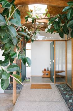 Renovation Of Mid-Century Modern Home Architect: Bill Mack Owners: Christa Martin, Geoff Katz Location: Bel Air, Los Angeles, California Interior Exterior, Interior Architecture, Flat Interior, Interior Doors, Clad Home, Vintage Dining Chairs, Bel Air, Mid Century House, Mid Century Modern Home