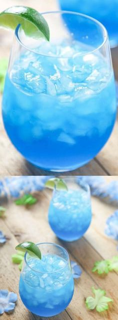 These Blue Margaritas from Baking Beauty are incredibly easy to make and they are so delicious and refreshing too! You only need 4 ingredients to make them — and no blender or cocktail shaker!