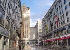 Wisconsin Ave, downtown Milwaukee