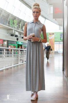 Sukienka jasnoszara