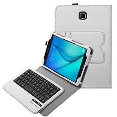 Samsung Galaxy Tab A 8.0 Case - BMOUO Wireless Bluetooth Keyboard Cover for Galaxy Tab A 8.0 inch Android Tablet SM-T350 Tablet (2015 New Version) - White Color BMOUO http://www.amazon.com/dp/B00X3V8WBW/ref=cm_sw_r_pi_dp_PDBbwb01A7JG8