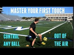 This video demonstrates a great drill to do for your first touch out of the air. Soccer Footwork Drills, Soccer Training Drills, Soccer Workouts, Soccer Coaching, Youth Soccer, Play Soccer, Football Soccer, Soccer Ball, Soccer Tips