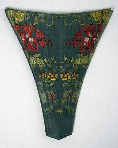 Stomacher 18thc., American or European, Made of silk