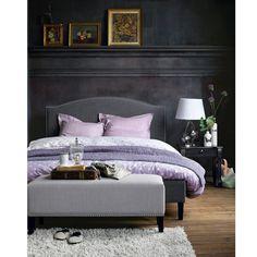 housse pour t te de lit forme galb e deco chbre adultes pinterest lit cache sommier et. Black Bedroom Furniture Sets. Home Design Ideas