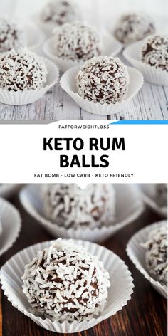 Keto Christmas is something I like to share with people, as Christmas is all about sharing! I've been concocting this keto rum balls recipe for a little while now, and what better way to bring out the Christmas spirits by sharing recipes. via @fatforweightlos