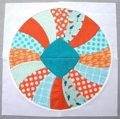 """Curve it up"" Dresden Plate ~ Block #9 by Sew Kind of Wonderful, via Flickr"
