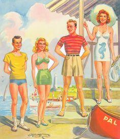 Paper Dolls~Summer Date - Bonnie Jones - Picasa Webalbum