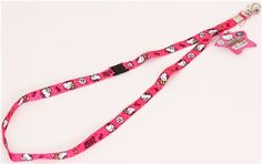 pink Hello Kitty with teddy bear lanyard