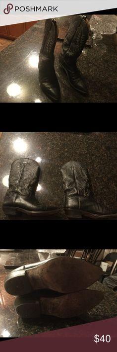 Mens Black leather cowboy boots Nucona Legacy men's western Boots Nucona Shoes Cowboy & Western Boots