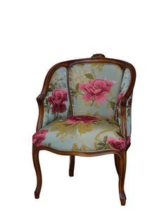 Louis XV Tub Salon Chair Dome Seat - French Provincial Furniture - I have a thing for chairs. French Provincial Furniture, French Furniture, Antique Furniture, Old Chairs, Vintage Chairs, Sofa Chair, Upholstered Chairs, Chair Cushions, Tub Chair
