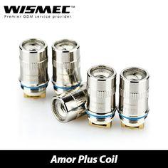 >> Click to Buy << 5pcs Wismec Amor Plus Atomizer Heads 0.15ohm Ni, 0.5ohm Ti, 0.3ohm Kantha KA1 Subohm Coil 100% Pure Organic Cotton Atomizer Head #Affiliate