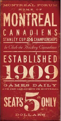 Montreal Canadiens hockey club original graphic art on canvas 10 x 20 by stephen fowler Montreal Canadiens, Mtl Canadiens, Quebec Montreal, Montreal Ville, I Am Canadian, Canadian History, Nhl, Hockey Games, Hockey Mom