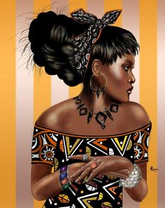 """""""African Beauty 2"""" by Rosemary Palmer Ryan"""