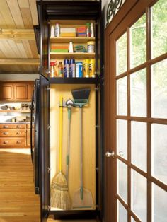 small broom closet   Home Organizing Ideas - Broom Closet