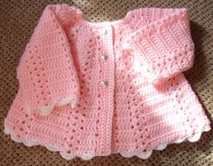 PC Ripple Baby Sweater Set Crochet Pattern by Rebecca on PopScreen Crochet Baby Sweater Pattern, Baby Sweater Patterns, Crochet Jacket, Hand Crochet, Crochet Patterns, Crochet For Beginners, Beginner Crochet, Crochet Baby Clothes, Sweater Set