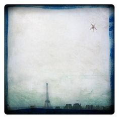 pAris (Landscape Photography - Fine Art Print -  Eiffel Tower - Paris - France - City - Sky - Star - Painting - Dark Blue - Grey) by labokoff on Etsy https://www.etsy.com/listing/48367644/paris-landscape-photography-fine-art